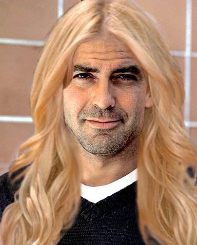 Clooney mit blonden Haaren