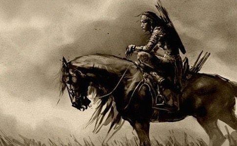 Mongolische Reiterkriegerin