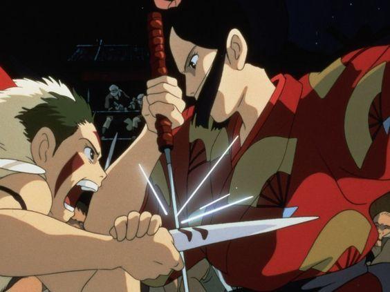 San und Lady Eboshi (Princess Mononoke, Ghibli 1997)