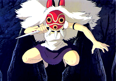 San mit Maske (aus Prinzessin Mononoke 1997)