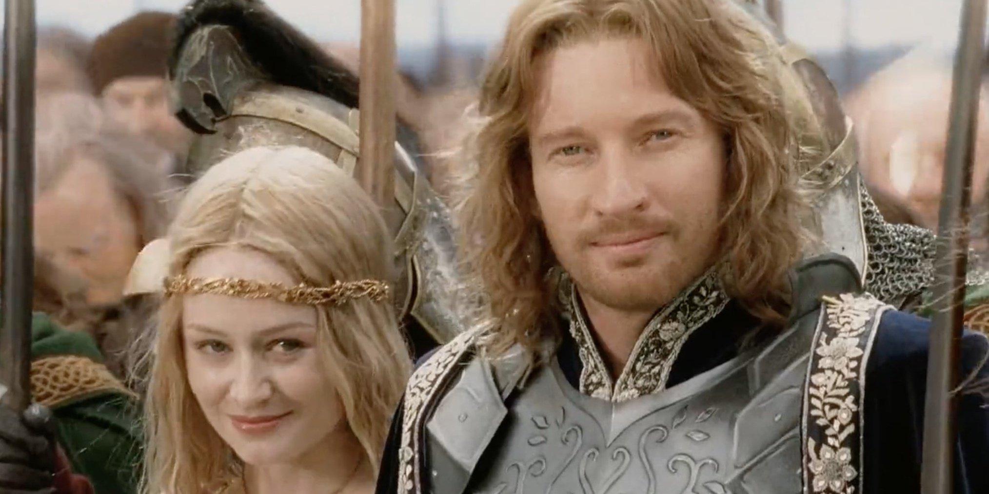 Éowyn und Faramir bei der Krönung Aragorns
